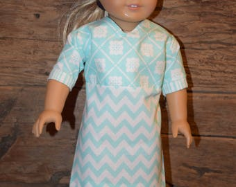 "18"" Doll Dress-Teal Dress - fits 18"" American Girl Doll"