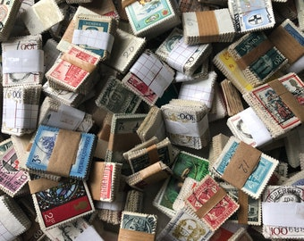 Vintage stamps random 8 little piles