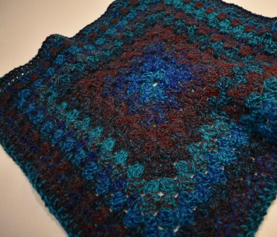 Blue Ridge Crochet Cat Mat-- Granny Square Style Pet Blanket