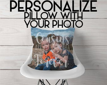 Photo on Pillow | Cousin Pillow | Cousin Quote | Cousins are Friends that Will Love You Forever | Gift for Cousin | Your Picture on Pillow