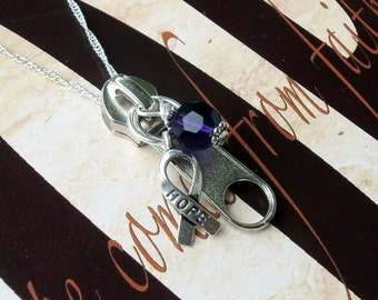 Chiari Malformation Awareness Zipperhead Necklace