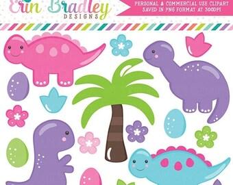 80% OFF SALE Girls Dinosaur Clipart Graphics, Dino Clipart, Pink Purple Blue Dinosaurs, Instant Download Digital Scrapbooking Clip Art Graph