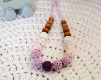 100% cotton Eco nursing necklace /Breastfeeding Necklace /Teething Necklace/Handmade baby gift
