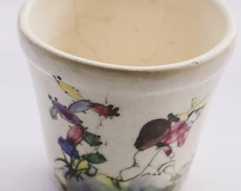 Small Vintage pottery Floral Hand Painted
