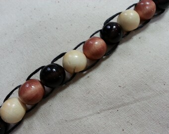 Wooden Bead Abacus Golf Stroke Counter, Knitting Row Counter, Lap Counter, Ranger Beads, Water Tracker, Prayer Beads