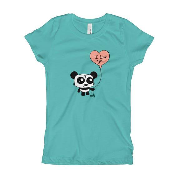 Girl's T-Shirt: I Love You Panda