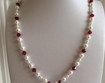 SWAROVSKI Crystal Heart Necklace - red