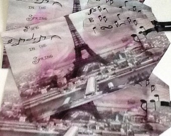 5 Paris in Spring Large Gift/Thank You Tags