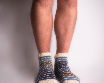 Beauteous Gents' Socks. Pattern only