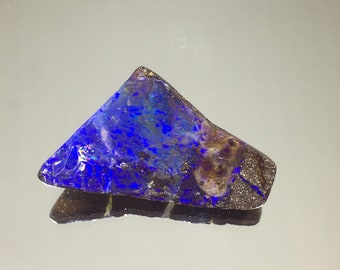 Royal Purple   Raw Boulder Opal   Blue Purple Fire   Rough Surface   Flat Back