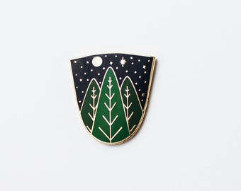 Starry Night | Hard Enamel Cloisonné Lapel Pin