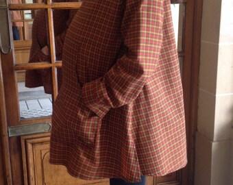 unique 70s maternity coat
