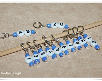 Stitch markers with numbers for knitting ring markers with numbers stitch marker numbered
