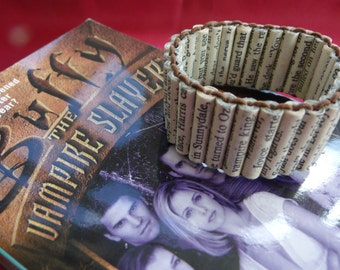 Made to order Buffy the Vampire Slayer paper bead bracelet