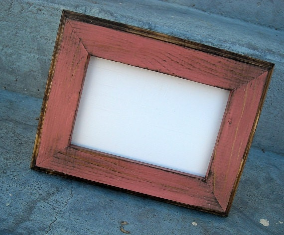 4 X 6 Wooden Picture Frame Coral Rustic Weathered Style With