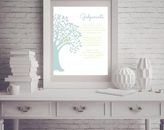 GODPARENT/GODMOTHER/GODFATHER Digital Download - Baptism; Christening; Family; Baby Dedication; Christening Gift; Baptism Gift; Godmother