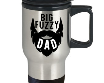 Bearded dad - travel coffee mug - great gift idea for awesome fathers with beards