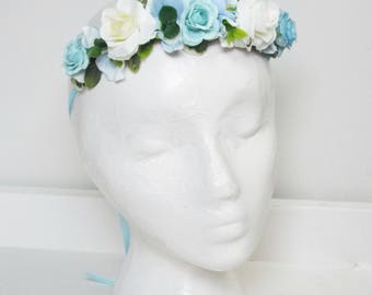 Childs flower crown - Blue