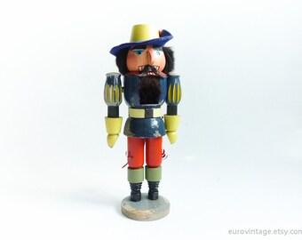 "Vintage 13"" Wooden Nutcracker / Toy Guard Wood Nutcracker"