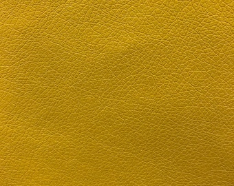 Faux Leather - Yellow