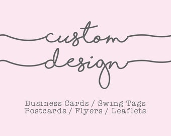 BUSINESS CARD & FLYER Designs - Single or Double Sided - Custom product packaging with your company branding