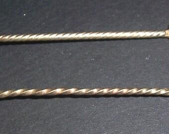 2 Vintage demitasse spoons with semi-precious stones -- sterling?