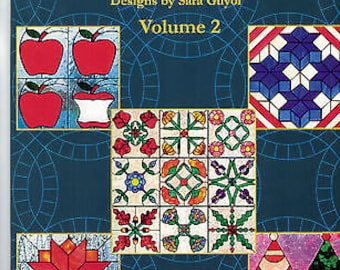 AMERICAN QUILTS Volume II Stained Glass Pattern Book 2 Great For Fusing! Easy