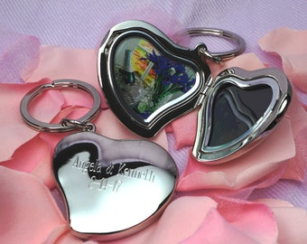 Personalized Heart | Locket Key Chain | Engraved Keychain | Heart Key Chain | Keychain   | Photo Frame  | Locket Keychain | Mother's Day