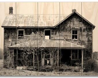 Rustic Farmhouse Photo Printed on Sustainable Wood