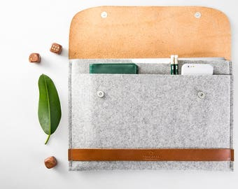 NEW MacBook 12 case MacBook case MacBook 12 sleeve MacBook sleeve Leather MacBook case Felt MacBook 100% wool felt vegetable tanned leather