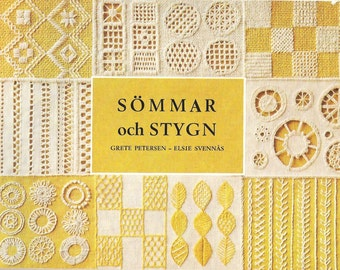 Stitchery Patterns Instruction | Vintage Stitches Embroidery | Needlework Technique | Swedish Vintage Stitchery | 200 Stitches | PDF file