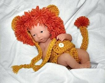 Newborn crochet outfit Newborn Lion Outfit Newborn photo prop baby boy outfit lion hat lion outfit crochet newborn photo outfit newborn boy