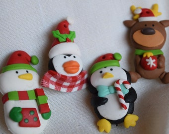 Christmas Pins - Claymation