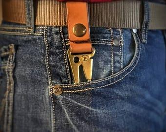 Leather and Brass Key Keyper