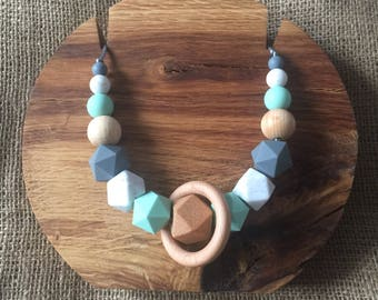 Mint & Grey Mama Necklace