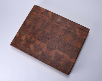 Ambrosia Maple End Grain Book Matched Wooden Cutting Board #171