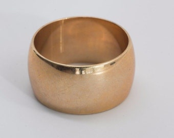 14K Rose Gold Band 12 mm. Wide, size 9.5