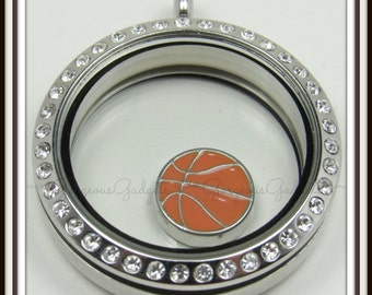 Basketball Floating Charm for Glass Locket / Floating Locket / Memory Locket