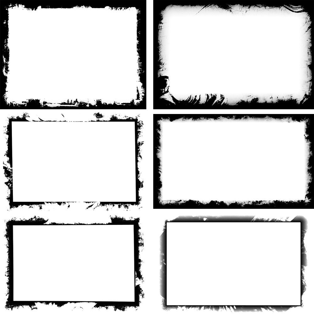 Black Grunge Frame Background