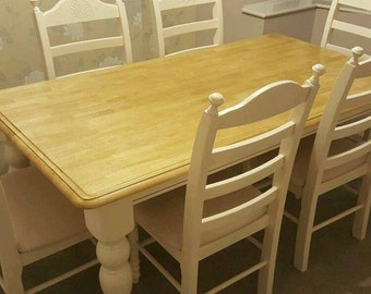 Beautiful Table and Six Chair Set