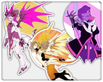 Mercy and Sombra Stickers
