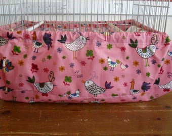 Pink Bird cage cover / tidy French hens