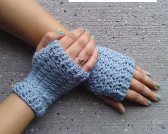 CROCHET PATTERN - Women's Size Sweet Delight Fingerless Gloves - Slanted Shell Fingerless Gloves - Permission to Sell Finished Products