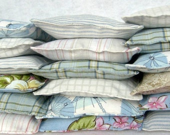 Eco friendly lavender dryer sachets... Set of THREE, dryer sheet alternative in surprise fabric selection, free shipping