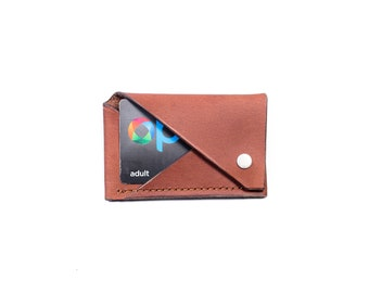 Slim Leather Card Wallet - Chocolate - OLD STOCK SALE