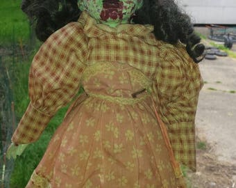 16 Inch Handcrafted Ooak Zombie Doll