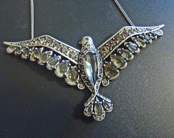 Designer Fossil Marcasite Eagle Necklace
