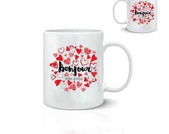 Hello my love - ceramic mug mug 325 ml