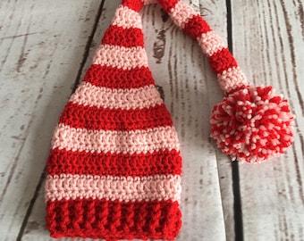 Valentines Hat - Baby Valentine Hat - Baby Stocking Hat - Baby Stocking Cap - Valentines Day - Baby Photo Prop - Valentines Baby - Valentine