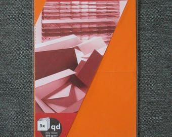 Set of 5 double square orange 310 x 155 mm 200 g/m² - Artoz S Line
